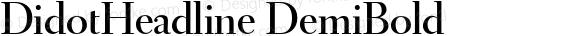 DidotHeadline DemiBold