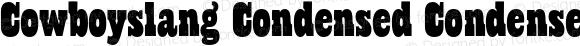 Cowboyslang Condensed Condensed