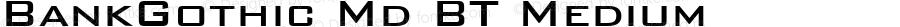 BankGothic Md BT Medium mfgpctt-v1.52 Monday, January 25, 1993 2:11:37 pm (EST)