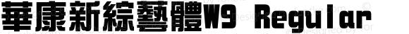 華康新綜藝體W9 Regular Version 3.00