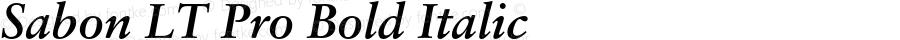Sabon LT Pro Bold Italic Version 2.001;PS 002.000;hotconv 1.0.38