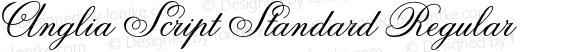 Anglia Script Standard Regular Macromedia Fontographer 4.1 22.11.2002