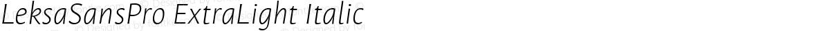 LeksaSansPro ExtraLight Italic