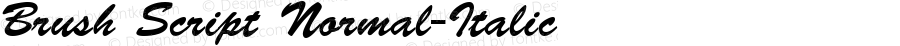 Brush Script Normal-Italic 001.000
