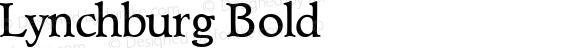 Lynchburg Bold 1.0 Mon Nov 06 09:51:40 1995