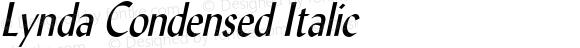 Lynda Condensed Italic 1.0 Wed Jul 28 13:00:24 1993