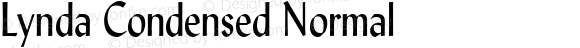 Lynda Condensed Normal 1.0 Wed Jul 28 13:01:37 1993