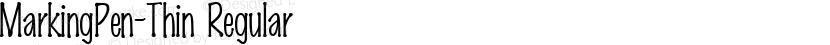 MarkingPen-Thin Regular Preview Image