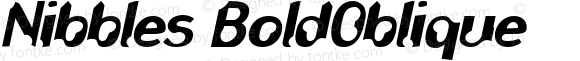 Nibbles BoldOblique