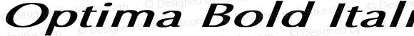 Optima Bold Italic Ex BI Bold Italic Unknown