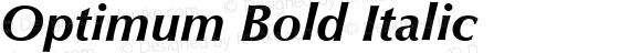 Optimum Bold Italic Version 1