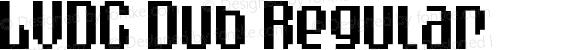 LVDC Dub Regular Macromedia Fontographer 4.1J 09.11.16