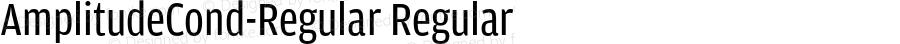 AmplitudeCond-Regular Regular Version 1.0