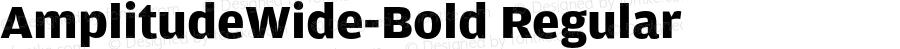 AmplitudeWide-Bold Regular Version 1.0