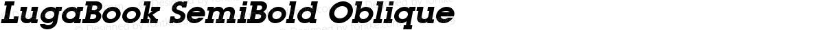 LugaBook SemiBold Oblique