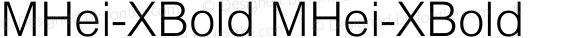 MHei-XBold MHei-XBold