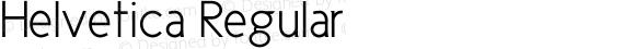Helvetica Regular Unknown