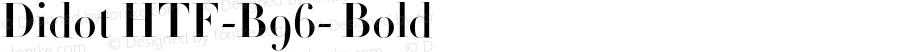 Didot HTF-B96- Bold 001.000