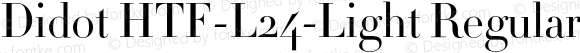 Didot HTF-L24-Light Regular 001.000