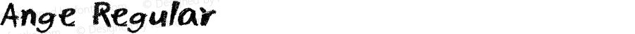 Ange Regular Fontographer 4.7 10.1.27 FG4M0000002045