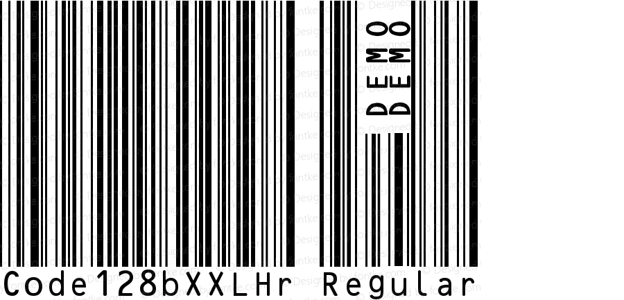 Code128bXXLHr Regular Version 1.00 April 5, 2005, initial release