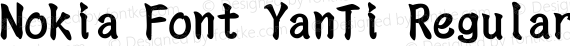 Nokia Font YanTi Regular preview image