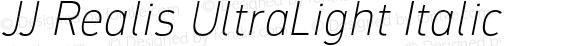 JJ Realis UltraLight Italic