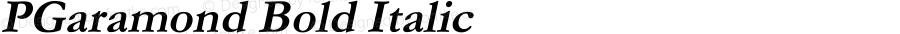 PGaramond Bold Italic Version 2.40 April 9, 2010
