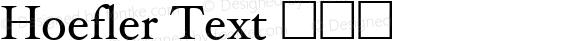 Hoefler Text 黑斜体 6.1d7e1