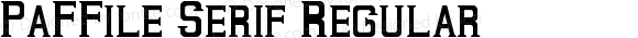 PaFFile Serif Regular May 02, 2010.