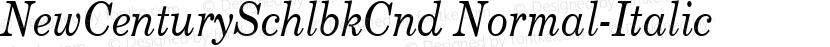 NewCenturySchlbkCnd Normal-Italic Preview Image