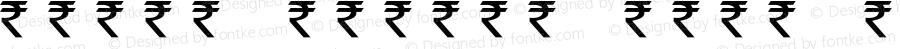 rupee symbol font Regular Unknown