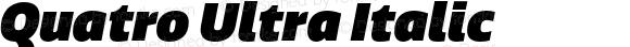 Quatro Ultra Italic