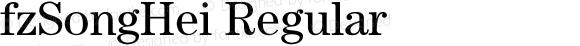 fzSongHei Regular