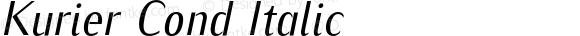 Kurier Cond Italic