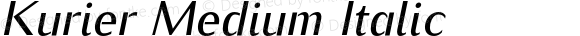 Kurier Medium Italic