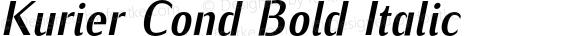 Kurier Cond Bold Italic