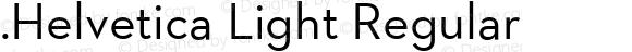 .Helvetica Light Regular