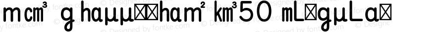 MO GSuujiSI K50 Regular Version 1.002;PS 1.001;hotconv 1.0.57;makeotf.lib2.0.21895