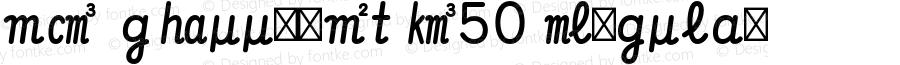 MO GSuujiIt K50 Regular Version 1.002;PS 1.001;hotconv 1.0.57;makeotf.lib2.0.21895