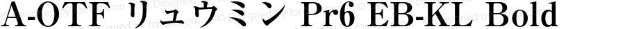 A-OTF リュウミン Pr6 EB-KL Bold Version 1.002;PS 1.2;hotconv 1.0.50;makeotf.lib2.0.15232