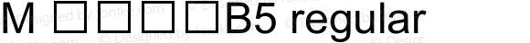 M 簡中黑體B5 regular 2.30