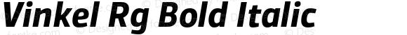 Vinkel Rg Bold Italic