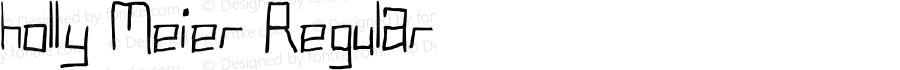 holly Meier Regular Lanier My Font Tool for Tablet PC 1.0