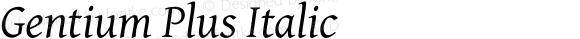 Gentium Plus Italic