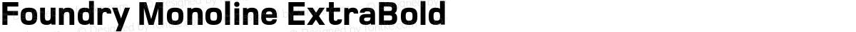 Foundry Monoline ExtraBold