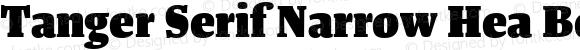 Tanger Serif Narrow Hea Bold