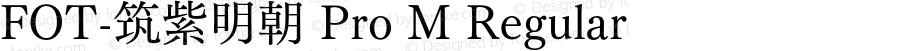 FOT-筑紫明朝 Pro M Regular Version 1.000;PS 1;hotconv 1.0.38;makeotf.lib1.6.5960