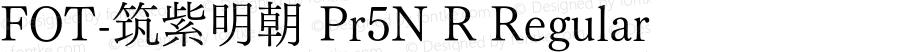 FOT-筑紫明朝 Pr5N R Regular Version 1.000;PS 1;hotconv 1.0.50;makeotf.lib2.0.16970