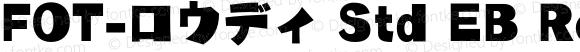 FOT-ロウディ Std EB Regular Version 1.000;PS 1;Core 1.0.35;makeotf.lib1.5.4750